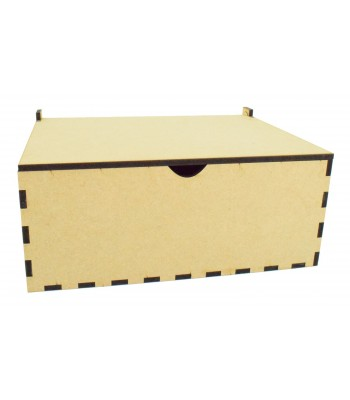Laser Cut 6mm Hinged Lid Memory Box - Christmas Eve Box